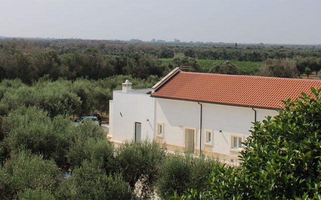 Panorama dal terrazzo di Masseria Monache