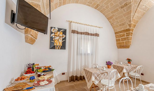 The breakfast of Masseria Monache is based on local products (km0)